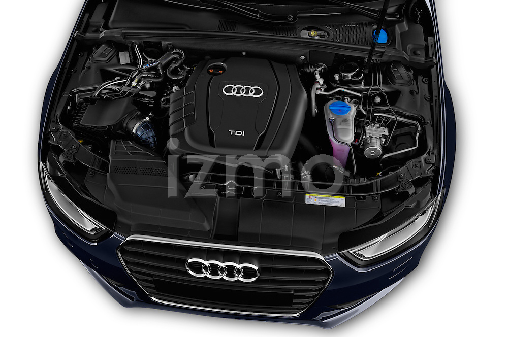 High angle engine detail of a 2014 Audi A4 AMBITION LUXE 4 Door Sedan 2WD