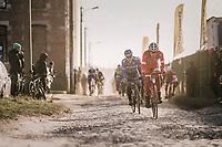 rough cobbled section<br /> <br /> 50th GP Samyn 2018<br /> Quaregnon > Dour: 200km (BELGIUM)