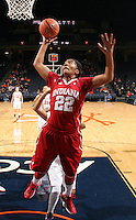 CHARLOTTESVILLE, VA- December 1: Sasha Chaplin #22 of the Indiana Hoosiers shoots the ball during the game against the Virginia Cavaliers on December 1, 2011 at the John Paul Jones Arena in Charlottesville, Virginia. Virginia defeated Indiana 65-49. (Photo by Andrew Shurtleff/Getty Images) *** Local Caption *** Sasha Chaplin