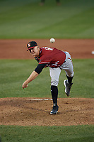 Altoona Curve pitcher Blake Weiman (44) during an Eastern League game against the Erie SeaWolves on June 3, 2019 at UPMC Park in Erie, Pennsylvania.  Altoona defeated Erie 9-8.  (Mike Janes/Four Seam Images)