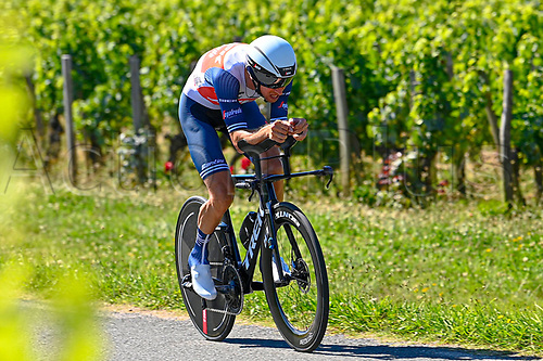 17th July 2021, St Emilian, Bordeaux, France;  MOLLEMA Bauke (NED) of TREK - SEGAFREDO during stage 20 of the 108th edition of the 2021 Tour de France cycling race, an individual time trial stage of 30,8 kms between Libourne and Saint-Emilion.