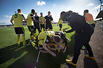 Arbroath 0 Edinburgh City 1, 15/03/2017. Gayfield Park, SPFL League 2. Visiting players celebrating Ryan Porteous' injury-time winner at Gayfield Park as Arbroath hosted Edinburgh City (in yellow) in an SPFL League 2 fixture. The newly-promoted side from the Capital were looking to secure their place in SPFL League 2 after promotion from the Lowland League the previous season. They won the match 1-0 with an injury time goal watched by 775 spectators to keep them 4 points clear of bottom spot with three further games to play. Photo by Colin McPherson.