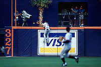 Ryan Klesko of the Atlanta Braves participates in a baseball game at Qualcomm Stadium during the1998 season in San Diego, California. (Larry Goren/Four Seam Images)