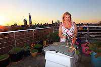 In Southwark, Nikki Vane's hives have an extraordinary view over the horizon of the city's financial district a stone's throw from the London Bridge. Nikki Vane is the secretary of the estimable London Beekeepers Association.