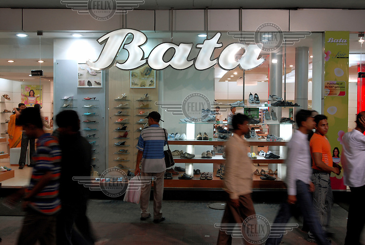 A Bata shoe shop in the centre of town.