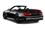 Car pictures of rear three quarter view of 2017 Mercedes Benz SL AMG 63 2 Door Convertible angular rear