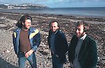 Bee Gees 1976 Barry Gibb, Maurice Gibb and Robin Gibb on the Isle Of Man.© Chris Walter.