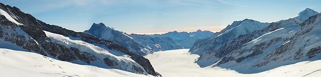 Jungfrau Glacier from Top of Europe - Swiss Alps Switzerland
