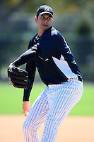 February 25, 2010:  Pitcher Jason Hirsh of the New York Yankees during practice at Legends Field in Tampa, FL.  Photo By Mike Janes/Four Seam Images