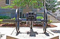 Historic double-barreled civil war cannon downtown Athens Georgia