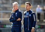 Forfar v St Johnstone…28.07.18…  Station Park    Betfred Cup<br />Jim Weir and coach Barry Sellars<br />Picture by Graeme Hart. <br />Copyright Perthshire Picture Agency<br />Tel: 01738 623350  Mobile: 07990 594431