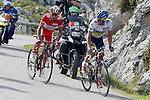 Alberto Contador and Joaquin Purito Rodriguez (l) during the stage of La Vuelta 2012 between La Robla and Lagos de Covadonga.September 2,2012. (ALTERPHOTOS/Paola Otero)