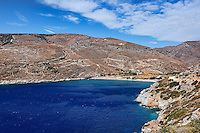 Spathi has nice sandy beach and crystal clear waters in Kea, Greece