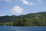 Milne Bay, Papua New Guinea; Tawali Resort, viewed from Milne Bay , Copyright © Matthew Meier, matthewmeierphoto.com