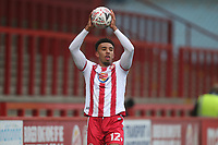 Remeao Hutton of Stevenage during Stevenage vs Hull City, Emirates FA Cup Football at the Lamex Stadium on 29th November 2020