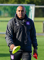 Anderlecht's assistant coach Miguel Atilio pictured during the warm up before a female soccer game between the women teams of Zulte Waregem B Dames and RSC Anderlecht Ladies on the 1/16 th qualifying round for the Belgian Womens Cup 2020  2021 , on saturday 26 th of September 2020  in Zulte , Belgium . PHOTO SPORTPIX.BE | SPP | SEVIL OKTEM