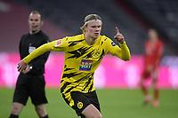 06.03.2021, Fussball 1. Bundesliga 2020/2021, 24. Spieltag, FC Bayern München - Borussia Dortmund, in der Allianz-Arena München. Jubel Torschütze Erling Haaland (Borussia Dortmund) und seine Teamkollegen zum Tor zum 0:1<br /> <br /> Foto: Bernd Feil/M.i.S./Pool<br /> <br /> Nur für journalistische Zwecke! Only for editorial use! <br /> DFL regulations prohibit any use of photographs as image sequences and/or quasi-video.    <br /> National and international NewsAgencies OUT. <br /> Bundesliga 2020/2021 <br /> photo Imago/Insidefoto <br /> ITALY ONLY