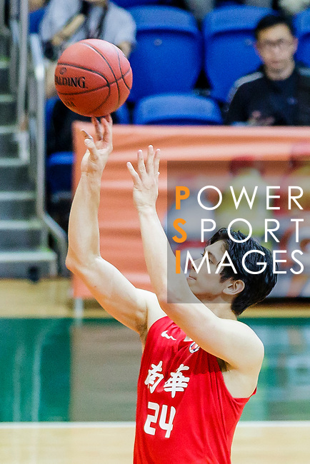 Nixon Nigel Thomas #24 of SCAA Men's Basketball Team shoots the ball against the Fukien during the Hong Kong Basketball League game between SCAA and Fukien at Southorn Stadium on June 01, 2018 in Hong Kong. Photo by Yu Chun Christopher Wong / Power Sport Images
