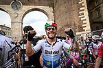 Italian and European Champion Giacomo Nizzolo (ITA) Team Qhubeka Assos wins Stage 13 of the 2021 Giro d'Italia, running 198km from Ravenna to Verona, Italy. 21st May 2021.  <br /> Picture: LaPresse/Fabio Ferrari | Cyclefile<br /> <br /> All photos usage must carry mandatory copyright credit (© Cyclefile | LaPresse/Fabio Ferrari)