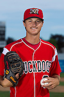 Batavia Muckdogs pitcher Daniel Bibona #3 poses for a photo during media day at Dwyer Stadium on June 14, 2012 in Batavia, New York.  (Mike Janes/Four Seam Images)