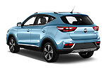 Car pictures of rear three quarter view of 2020 Mg MG-ZS-EV Luxury 5 Door SUV Angular Rear