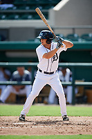 Detroit Tigers Reece Hampton (19) at bat during a Florida Instructional League game against the Pittsburgh Pirates on October 6, 2018 at Joker Marchant Stadium in Lakeland, Florida.  (Mike Janes/Four Seam Images)