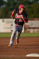 Peoria Chiefs Brian O'Keefe (32) runs to third base during the Midwest League game against the  Burlington Bees at Community Field on June 9, 2016 in Burlington, Iowa.  Peoria won 6-4.  (Dennis Hubbard/Four Seam Images)