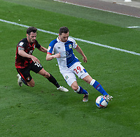 Blackburn Rovers' Corry Evans (right) under pressure from Bournemouth's Adam Smith (left) <br /> <br /> Photographer David Horton/CameraSport <br /> <br /> The EFL Sky Bet Championship - Bournemouth v Blackburn Rovers - Saturday September 12th 2020 - Vitality Stadium - Bournemouth<br /> <br /> World Copyright © 2020 CameraSport. All rights reserved. 43 Linden Ave. Countesthorpe. Leicester. England. LE8 5PG - Tel: +44 (0) 116 277 4147 - admin@camerasport.com - www.camerasport.com
