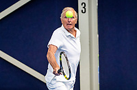 Hilversum, The Netherlands,  August 17, 2021,  Tulip Tennis Center, NKS, National Senior Tennis Championships, Men's single 80+  Wietze Landman (NED)<br /> Photo: Tennisimages/Henk Koster