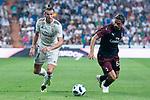 Real Madrid Gareth Bale and A.C. Milan Patrick Cutrone during Santiago Bernabeu Trophy match at Santiago Bernabeu Stadium in Madrid, Spain. August 11, 2018. (ALTERPHOTOS/Borja B.Hojas)