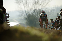 Wout Van Aert (BEL/Vastgoedservice-Golden Palace) leading the race<br /> <br /> Elite Men's race<br /> Koppenbergcross 2015