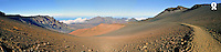 Haleakala crater, panoramic view, Maui Island, Hawaii, Usa (Licence this image exclusively with Getty: http://www.gettyimages.com/detail/85071275 )