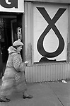 SNP Scottish National Party logo. Prospective MP Alex Ewing campaigning in 1979 Glasgow Cathcart.  He did not win and came third to labour and then Conservative. 1970s.