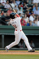 Designated hitter Michael Chavis (11) of the Greenville Drive bats in a game against the Rome Braves on Monday, June 15, 2015, at Fluor Field at the West End in Greenville, South Carolina. Chavis was a first-round pick of the Boston Red Sox in the 2014 First-Year Player Draft. (Tom Priddy/Four Seam Images)