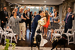 Shanti and Philip's Intimate Home Wedding With Ares and Athena by their side.