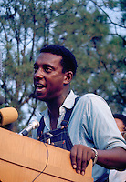 ames Meredith March Through Mississippi, June 1966. Stokely Carmichael, Chairman of SNCC, On final leg of march. Civil Rights. Black. Protest. African American. personalities. Stokely Carmichael. Mis......