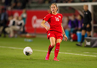CARSON, CA - FEBRUARY 07: Janine Beckie #16 of Canada during a game between Canada and Costa Rica at Dignity Health Sports Complex on February 07, 2020 in Carson, California.