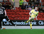 St Johnstone v Kilmarnock....06.11.10  .Liam Kelly scores to make it 3-0.Picture by Graeme Hart..Copyright Perthshire Picture Agency.Tel: 01738 623350  Mobile: 07990 594431