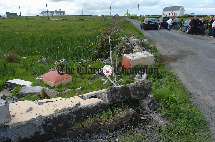 The site of the fatal crash at Seafield in Quilty. Photograph by John Kelly.
