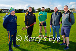 A royal visit to Austin Stacks GAA club by the Meath senior hurlers on Saturday evening. L to r: Nick Weir (Meath Hurling Manager), Billy Ryle (Austin Stacks Chairman, Sean Gearathy (Meath Capt), Jim Naughton and Paddy Kelly (Vice Chair Meath GAA).