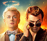 Promotional art with David Tennant & Michael Sheen<br /> Good Omens (2019) <br /> *Filmstill - Editorial Use Only*<br /> CAP/RFS<br /> Image supplied by Capital Pictures