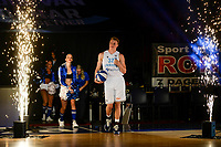 GRONINGEN - Basketbal , Open Dag met Donar - Antwerp Giants , voorbereiding seizoen 2021-2022, 05-09-2021, presentatie Donar speler Kjeld Zuidema