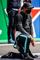 HAMILTON Lewis (gbr), Mercedes AMG F1 GP W12 E Performance, portrait, starting grid, grille de depart, during the Formula 1 Heineken Grande Prémio de Portugal 2021 from April 30 to May 2, 2021 on the Algarve International Circuit, in Portimao, Portugal <br /> FORMULA 1 : Grand Prix Portugal - Essais - Portimao - 02/05/2021 <br /> Photo DPPI/Panoramic/Insidefoto <br /> ITALY ONLY