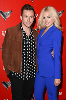 Danny Jones and Pixie Lott<br /> at the launch of The Voice Kids, Madame Tussauds, London. <br /> <br /> <br /> ©Ash Knotek  D3273  06/06/2017