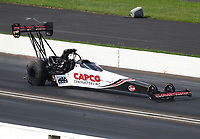 Sep 2, 2019; Clermont, IN, USA; NHRA top fuel driver Steve Torrence during the US Nationals at Lucas Oil Raceway. Mandatory Credit: Mark J. Rebilas-USA TODAY Sports