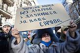 Pro EU Demonstrationen am 04.12.2013 in Kiew.