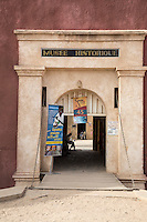 Entrance to French-built (1850) Fort d'Estrees, now the IFAN Historical Museum, Goree Island, Senegal.