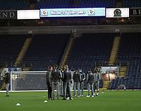 Middlesbrough players inspect the pitch<br /> <br /> Photographer Mick Walker/CameraSport<br /> <br /> The EFL Sky Bet Championship - Blackburn Rovers v Middlesbrough - Tuesday 3rd November 2020 - Ewood Park - Blackburn<br /> <br /> World Copyright © 2020 CameraSport. All rights reserved. 43 Linden Ave. Countesthorpe. Leicester. England. LE8 5PG - Tel: +44 (0) 116 277 4147 - admin@camerasport.com - www.camerasport.com
