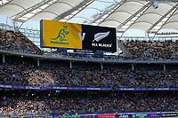 5th September 2021; Optus Stadium, Perth, Australia: Bledisloe Cup international rugby, Australia versus New Zealand; Full stadium of fans watch the match between Australia and New Zealand