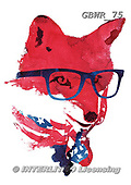 Simon, REALISTIC ANIMALS, REALISTISCHE TIERE, ANIMALES REALISTICOS, paintings+++++RobertF_AmericanFox,GBWR75,#a#, EVERYDAY